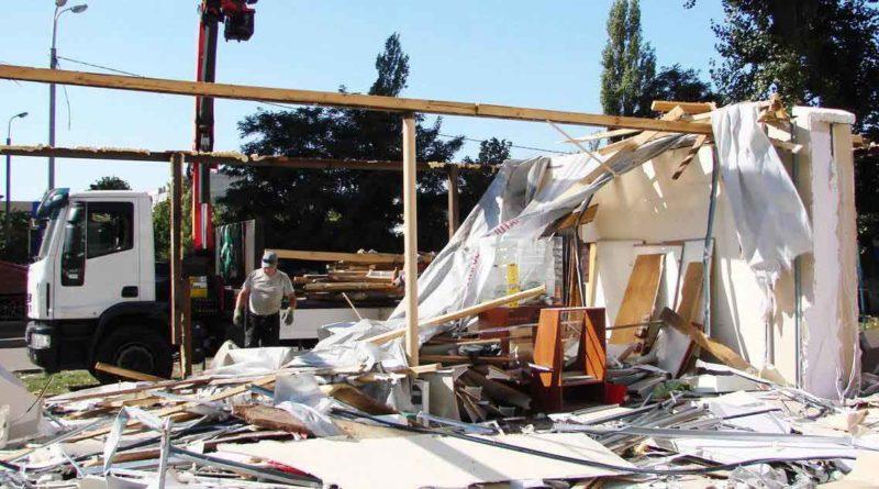 На Зої Гайдай демонтували незаконний МАФ